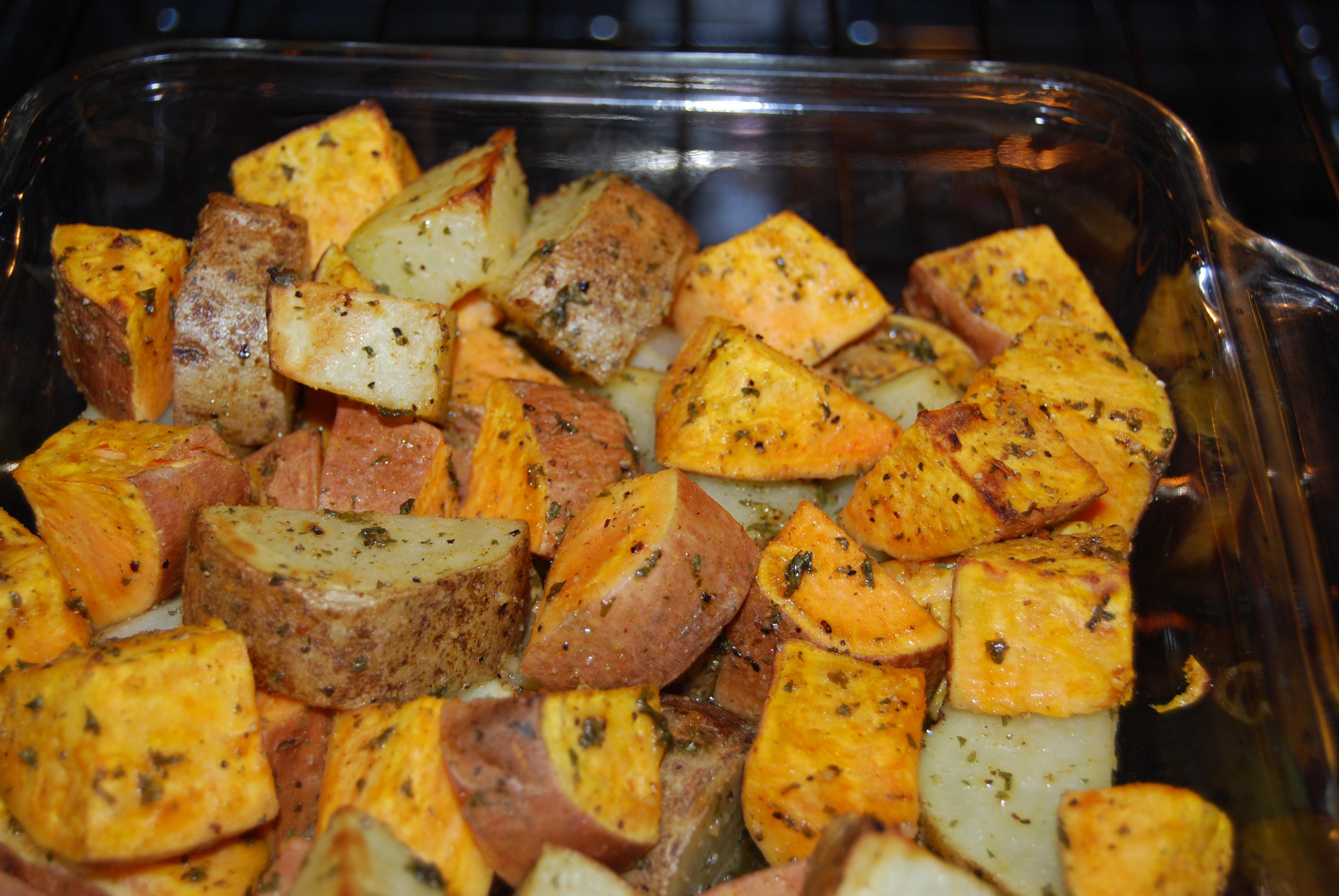 Roasted Potatoes with Sweet Potatoes